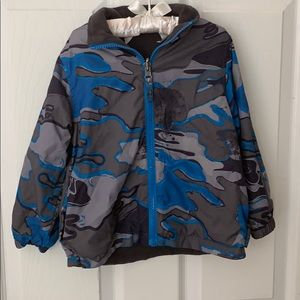 Reversible Fleece/Nylon boy's jacket